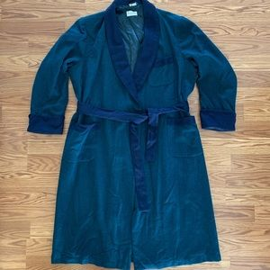 Vintage men's wool dressing robe